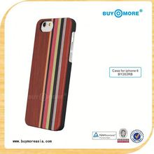 2015 Fashion handy phone case in china, for iphone 6s hand made phone case real wood bamboo