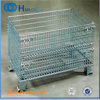 Folding stack welded galvanized wire mesh security cage