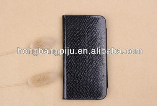 2014 fashion leather balck phone case for iphone 5