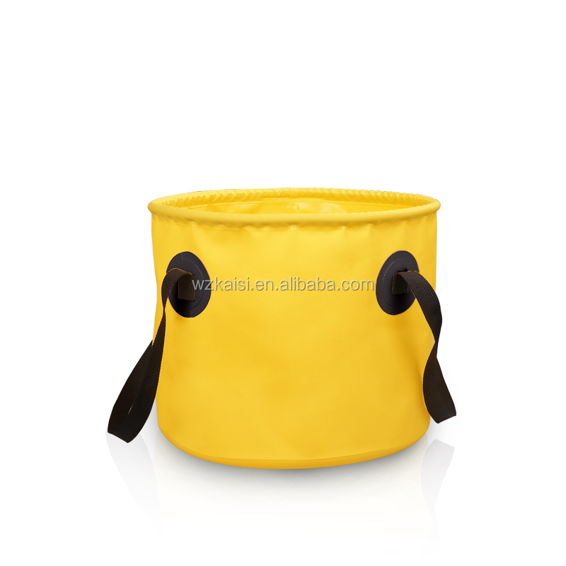 Foldable Folding PVC waterproof cylinder shape bucket wholesales