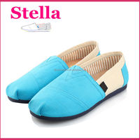 ladies alpargatas comfortable and breathable slip on canvas shoes