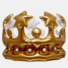 Wholesale Cheap Blow Up Toys Inflatable Gold Crown For Adult And Children