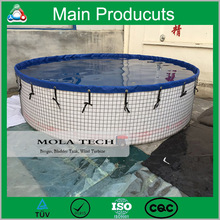 China Supplier Plastic Fish Tank Outdoor Foldable Tank In Fish Farm