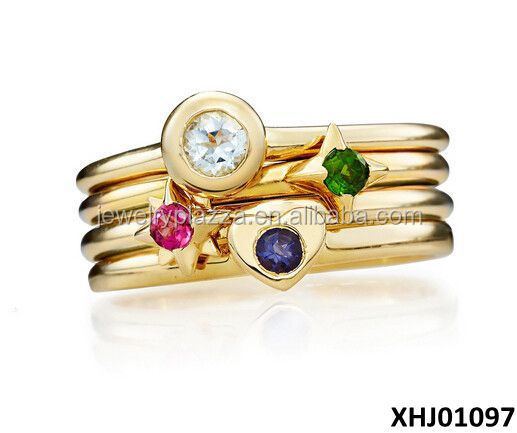 wholesale stack rings white gold plating sterling silver