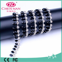 Crystal glass rhinestone cup chain trimming for doll dress up,bracelet and necklace accessory