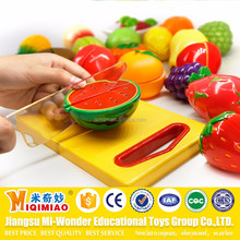 CE ISO kitchen toys set emulation plastic fruits and vegetables cutting playing games