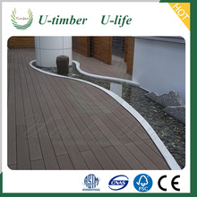 Natural wood feeling Plastic Composite synthetic decking