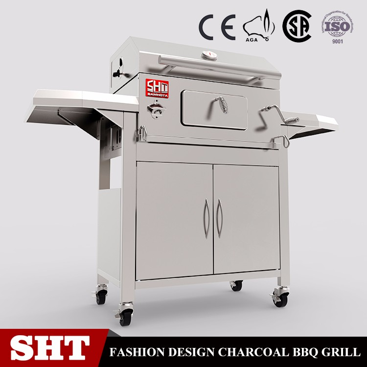 Restaurant Professional Rotating Bbq charcoal grill