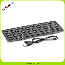 Aluminum Mini Foldable Bluetooth Keyboard For Samsung For iPad Tablet PC
