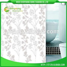 Polyester Silver Print Fabric Weight Fancy Shower Curtains
