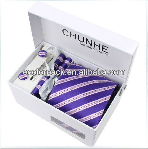 top quality white necktie box necktie display box