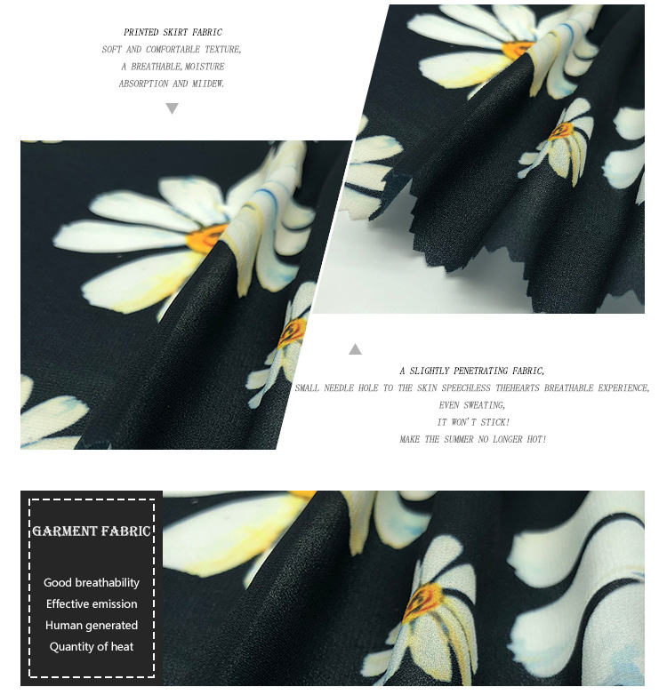 Long Skirt Print Polyester Wholesale Beautiful Fabric For Dresses