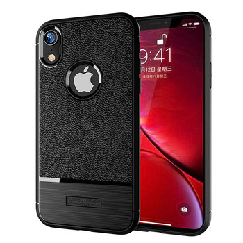 Litchi pattern mobile phone for iphone XR TPU Silicone Case Cover Shockproof