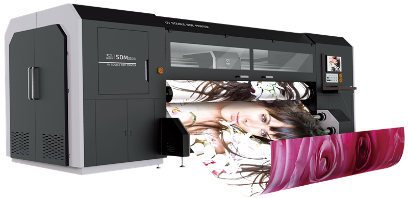 synchro double side printer large format indoor outdoor printer