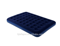 Furniture bed set convenient air mattress flocking pvc inflatable bed