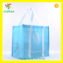 Light blue design non woven reusable folding Recycle Shopping Cloth bag China wholesale