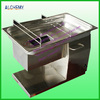 stainless steel fresh meat cutting machine/meat cube cutting machine price