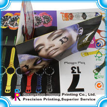 China factory promotional folded sample leaflets printing