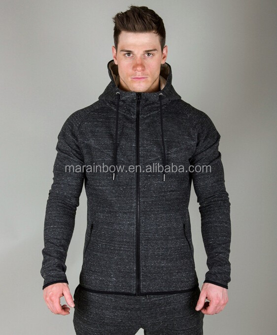 top quality men hoodie jacket customized full zipper gym hoodie tracksuits tops fitness men's clothing
