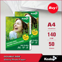 Waterproof 100g/120g Inkjet Dual Glossy Photo Paper A4