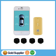 Tire Pressure Monitor External Sensor TPMS Bluetooth 4.0 Support 4 Tires with Prevent Tire Explosion Easy to install