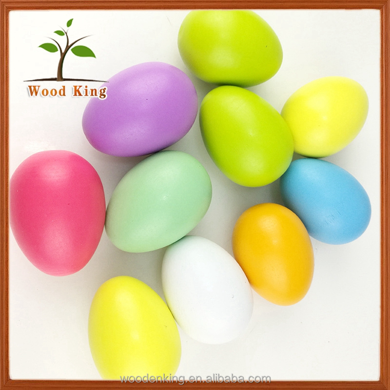 DIY Graffiti Wooden Children'S Simulation Eggs Fake Surprise Japanese Toy Chicken Egg