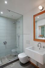Tempered Glass Rectangle Shower Door Without Top Rail
