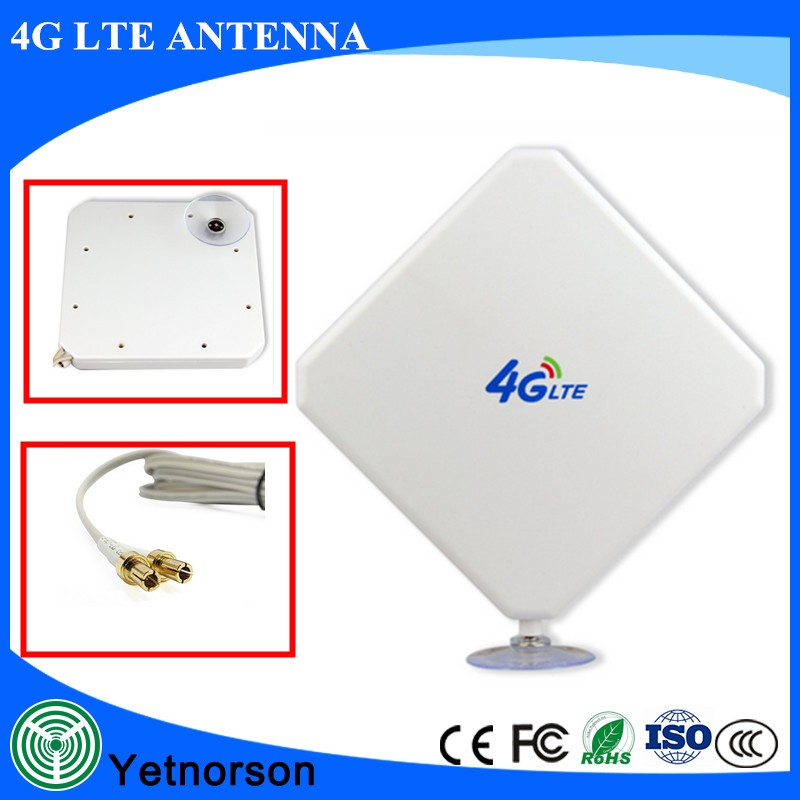 Long Distance 35 dBi 4G LTE wifi modem White Antenna with 3M Cable