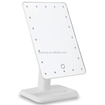 makeup mirror with light portable table 21 leds desktop lamp 360 degree rotation make up mirror