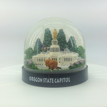 Welcome Custom Resin Oregon State Capitol Water Snowball