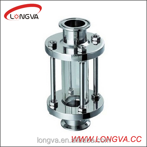 sanitary stainless steel in line tank sight glass