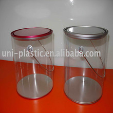 2017 Newest Hot Sell 1 gallon clear plastic paint cans for packaging