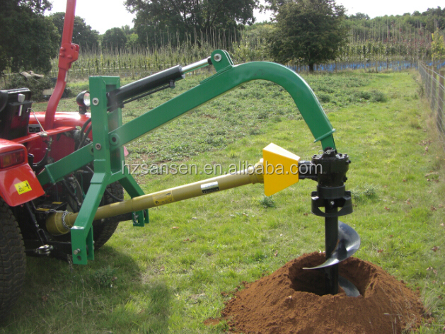 Tractor 3 point post hole digger with hydraulic cylinder / tractor implements for sale