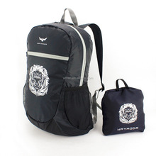 Fashion 200D Polyester Foldable Eco Backpack bag
