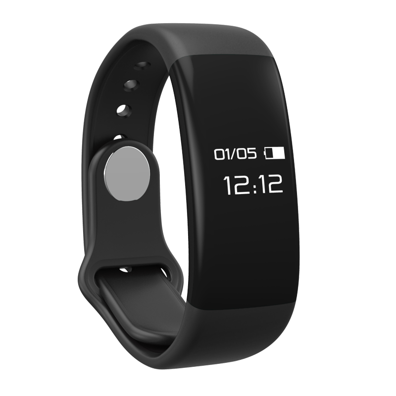 Custom logo smart bracelet heart rate monitor band bluetooth smart wristband activity tracker fit bit for android and ios
