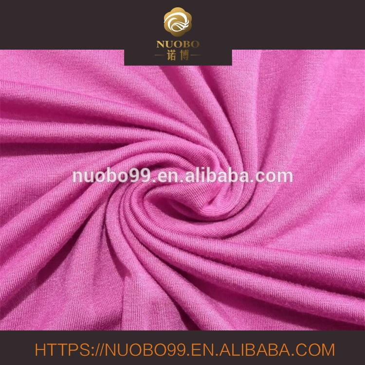 Rayon/Spandex single jersey knitted fabric for T-shirt