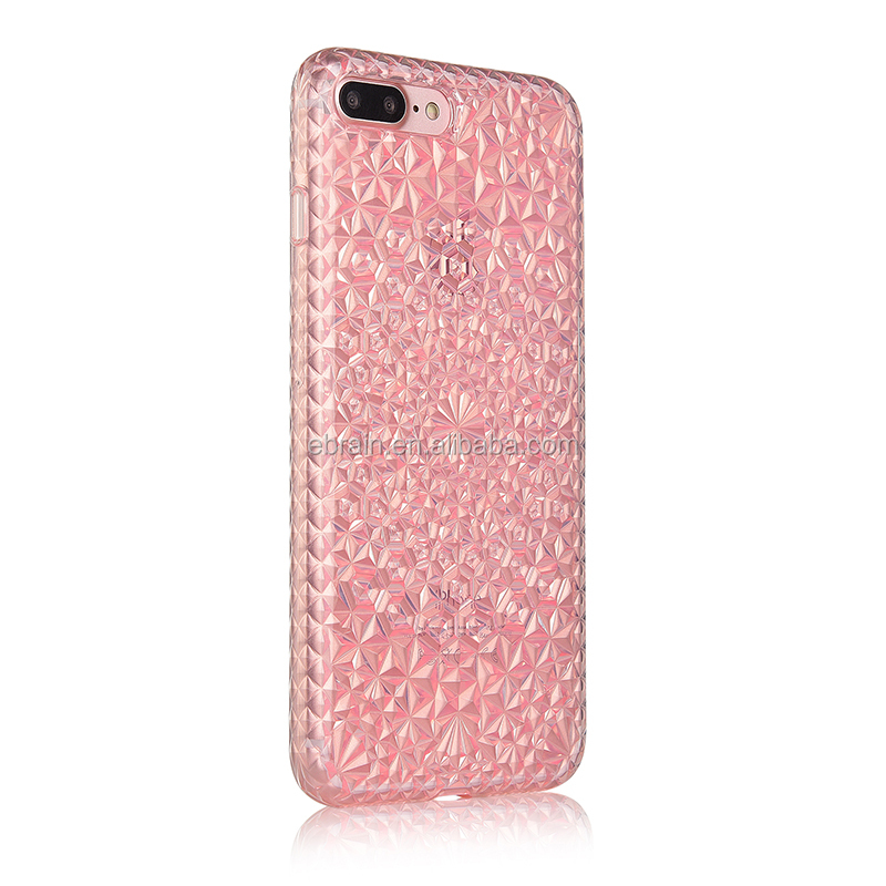 2016 New Clear Soft TPU 3D Crystal Cell Phone Cases