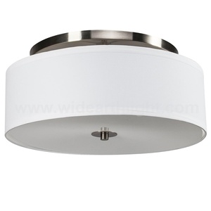 UL CUL Approved Fabric Shade Hotel Ceiling Lamp And Flush Ceiling Lighting With Diffuser C20075