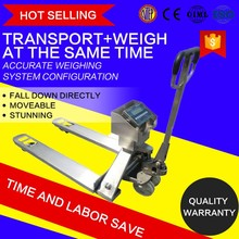 2 ton Stainless hand pallet weighing fork lift scales