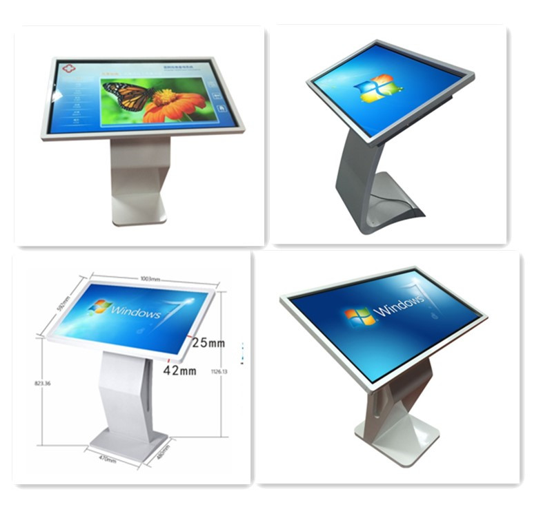 Latest design Ultra-thin ultra-narrow frame Save energy mall horizontal all-in-one 42 inch touch screen kiosk