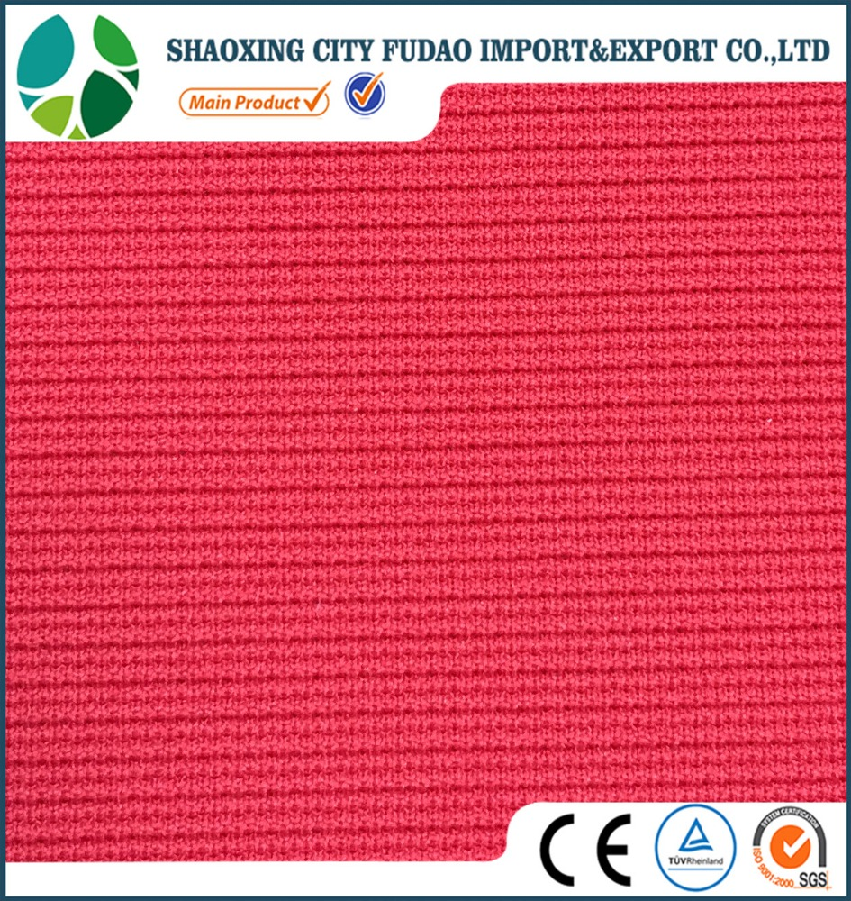 Polyester spandex fabric knitted ottoman fabric for lady fashion wear