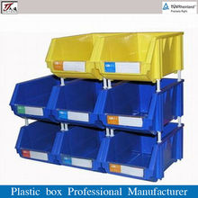 Plastic Attached-lid Storage Containers for Small Parts