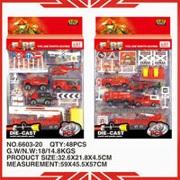 2013 1:87 scale 6603-20 mini fire truck die cast model toy for sale