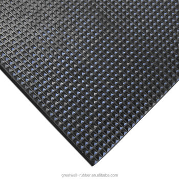 Great Wall Factory sale various widely used rubber car floor mat Anti-slip Pyramid Rubber Sheets