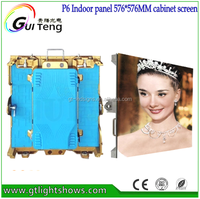 GuiTeng P6 Full Color Indoor 6mm LED Video Wall Rent for Events