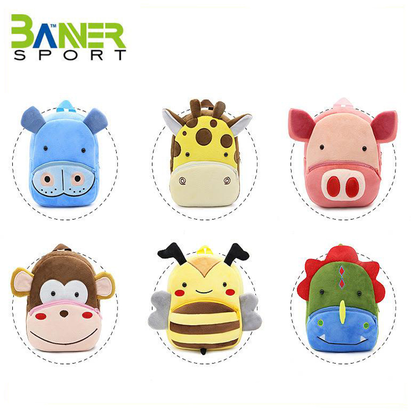 Quality and cheap 3D plush animal kids backpack toddler school <strong>bag</strong> daily travel cute backpack