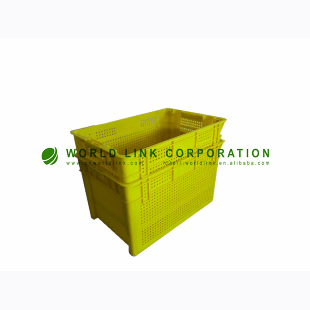 Blue Stackable Plastic Storage Large Vegetable Collapsible Crates