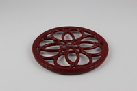 Cast iron pot,Round enamel cast iron trivets,Round enamel cast iron pot mat