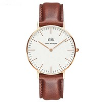 China factory hot selling DW style new genuine leather watches china cheap wholesale oem watch 2016