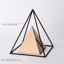 Egyptian pyramids metal crafts golden items home accessories